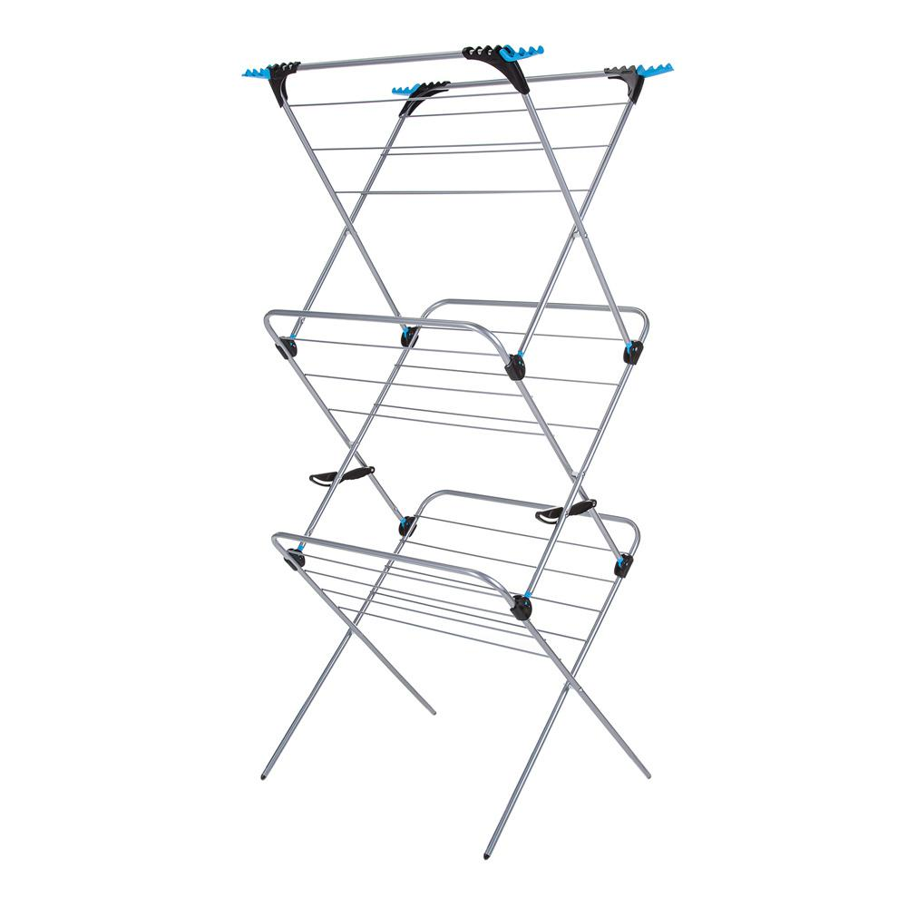 3-Tier Plus Indoor Drying Rack - Silver
