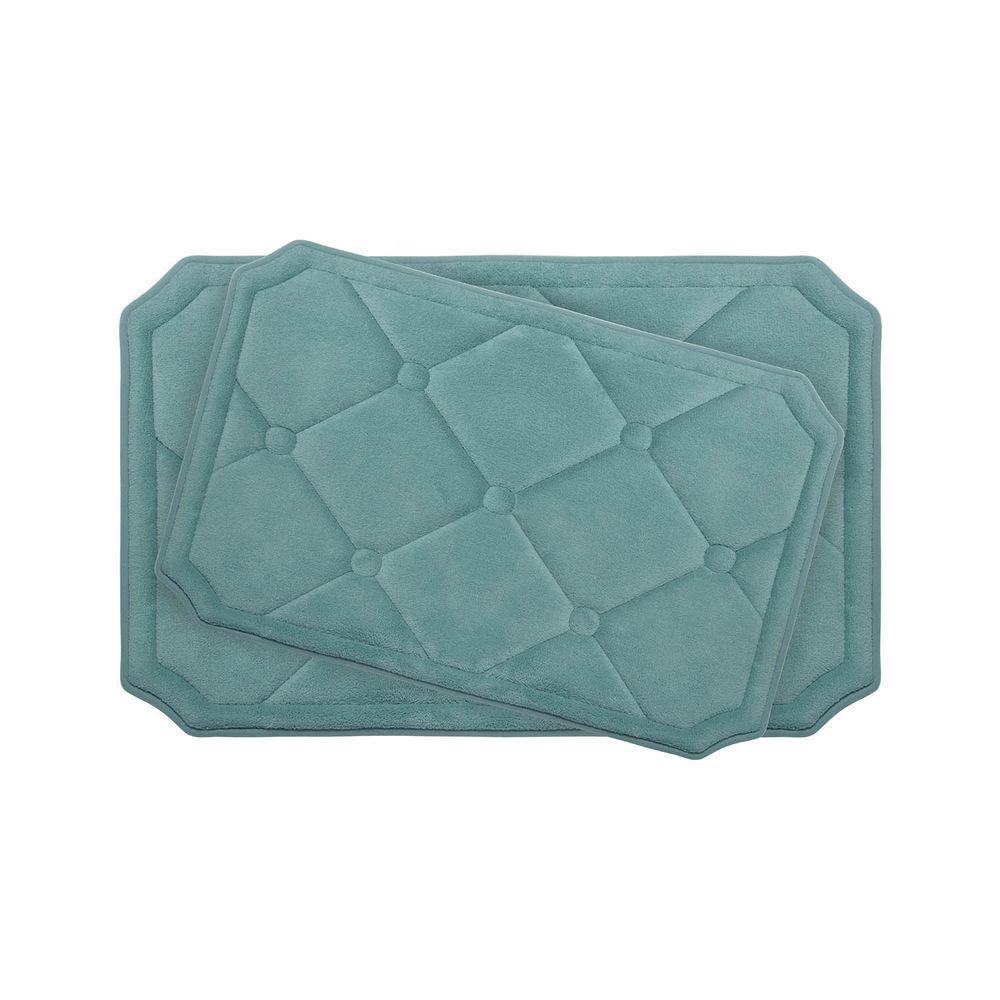 Bouncecomfort Gertie Marine Blue Memory Foam 2 Piece Bath