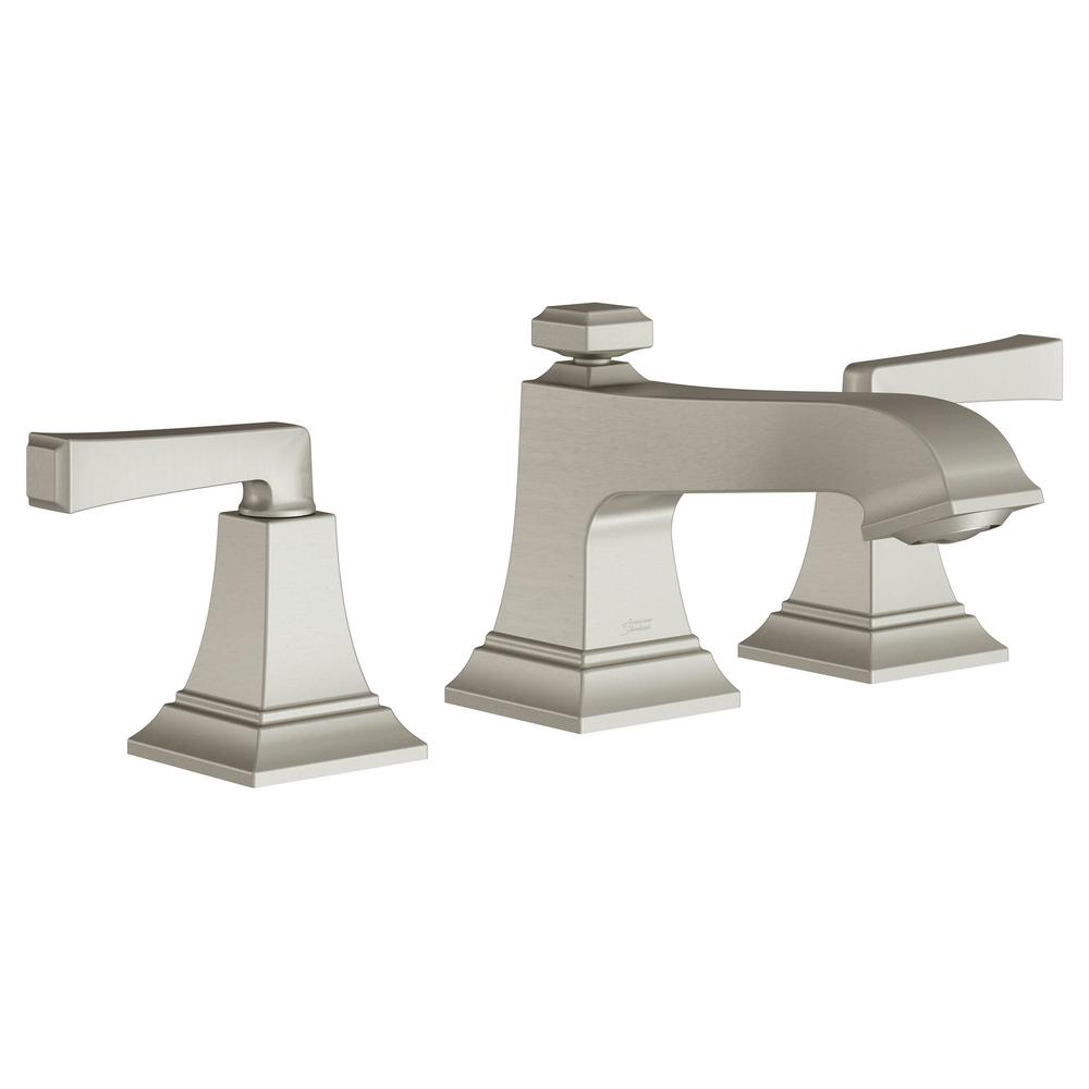 American Standard Town Square S 8 in. Widespread 2-Handle Bathroom Faucet with Drain Assembly and WaterSense 1.2 GPM in Brushed Nickel