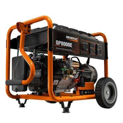 8,000-Watt Gasoline Powered Electric Start Portable Generator
