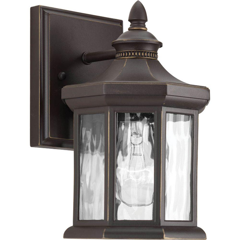 Edition Collection 1-Light Outdoor 5.5 Inch Antique Bronze Wall Lantern