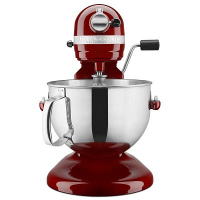 KitchenAid-Professional 600 Series 6 Qt. 10-Speed Gloss Cinnamon Stand Mixer with Flat Beater, Wire Whip and Dough Hook Attachments