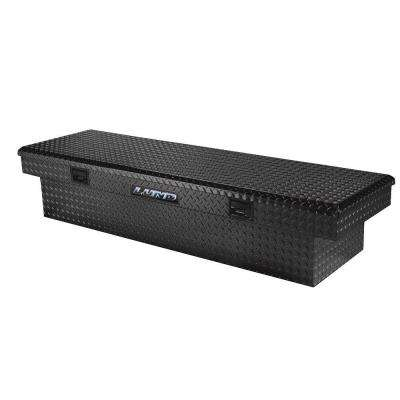 60 in Gloss Black Aluminum Full Size Crossbed Truck Tool Box with mounting hardware and keys included