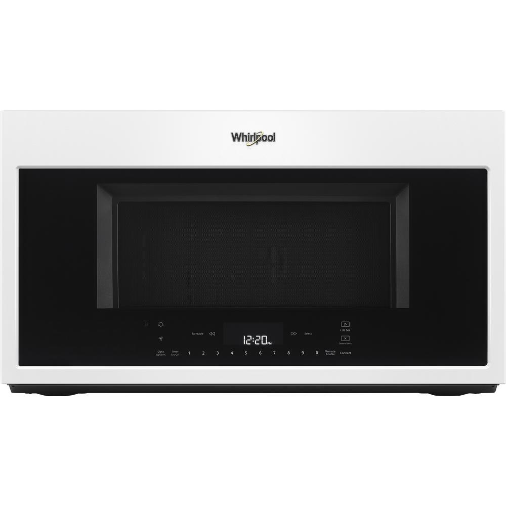 Whirlpool 1.9 cu. ft. Smart Over the Range Convection Microwave in White with Scan-to-Cook Technology