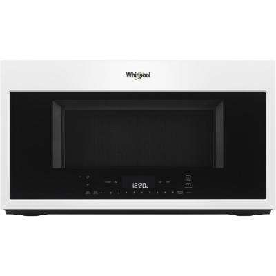 1.9 cu. ft. Smart Over the Range Convection Microwave in White with Scan-to-Cook Technology