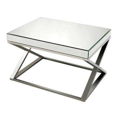 Klein Mirror Clear, Crome and Stainless Steel Coffee Table