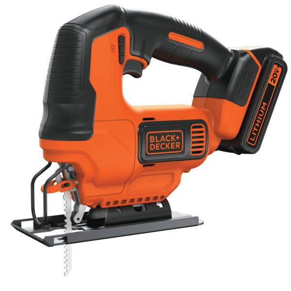 20-Volt MAX Lithium-Ion Cordless Jigsaw with 1.5 Ahr Battery and Charger