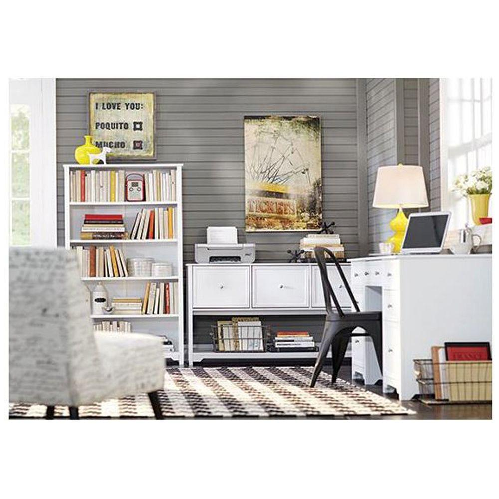 Home Decorators Collection Oxford White File Cabinet 5220000410   The Home  Depot