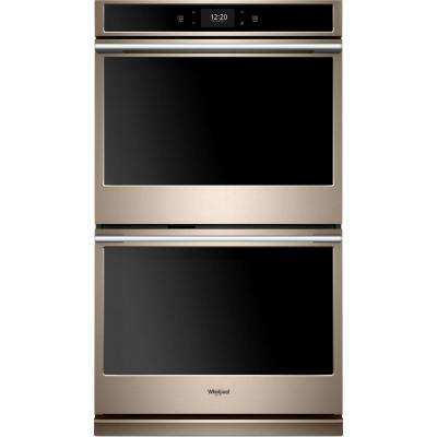 30 in. Smart Double Electric Wall Oven with True Convection Cooking in Fingerprint Resistant Sunset Bronze