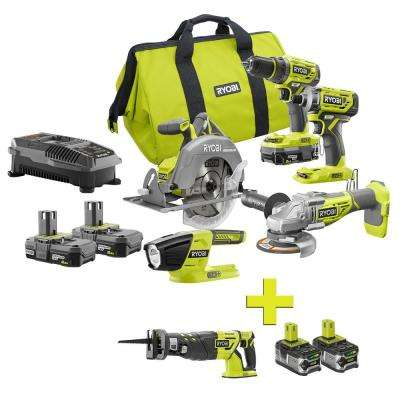 18-Volt ONE+ Lithium-Ion Cordless Brushless 5-Tool Combo Kit w/ Bonus Reciprocating Saw and (2) 4.0 LITHIUM+ Batteries