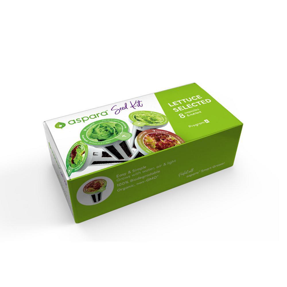 Organic Lettuce Selected 8 Capsule Seed Kit