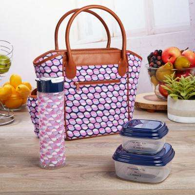 Stamford Purple Lunch Kit with Food Containers and Water Bottle