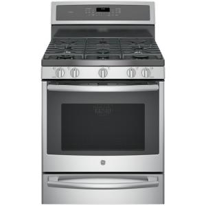 Click here to buy GE Profile 30 inch 5.6 cu. ft. Smart Dual Fuel Range with Self-Cleaning Convection Oven and WiFi in Stainless Steel by GE.