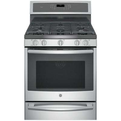 Profile 30 in. 5.6 cu. ft. Smart Dual Fuel Range with Self-Cleaning Convection Oven and WiFi in Stainless Steel