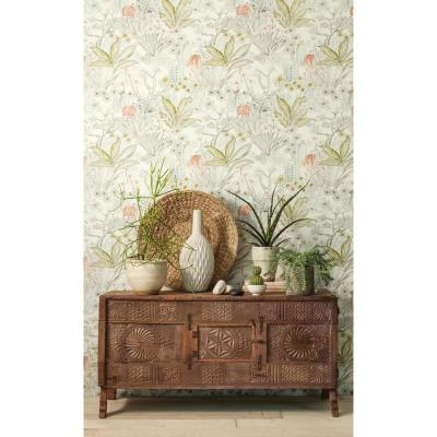 60.75 sq. ft. Outdoors in Flowering Desert Wallpaper