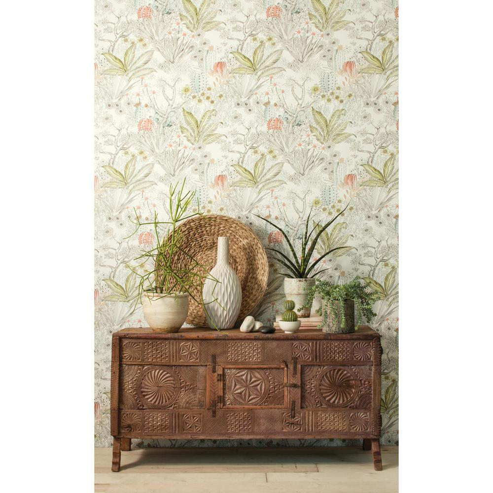 Flowering Desert Paper Strippable Wallpaper (Covers 60.75 sq. ft.)