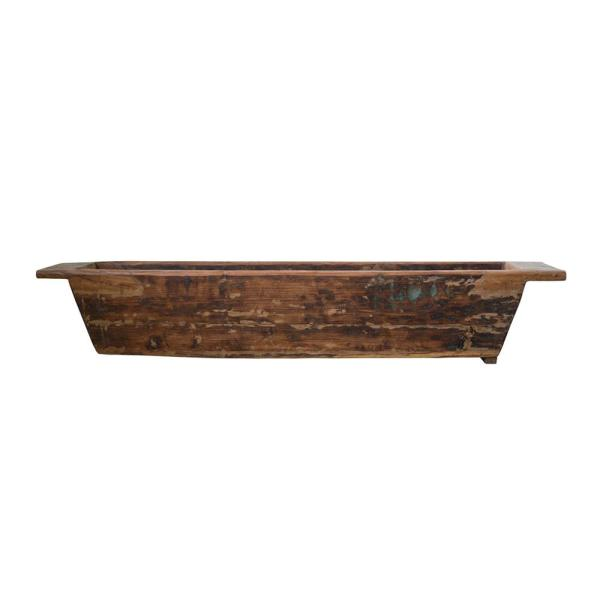 Casual Country 75 in. Large Reclaimed Wood Trug