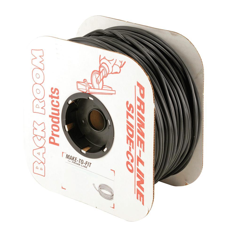 0.185 in. x 500 ft. Roll Black Spline