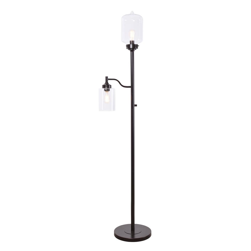 kenroy home Kenroy Home Casey 75 in. Oil Rubbed Bronze Mother and Son Torchiere Floor Lamp