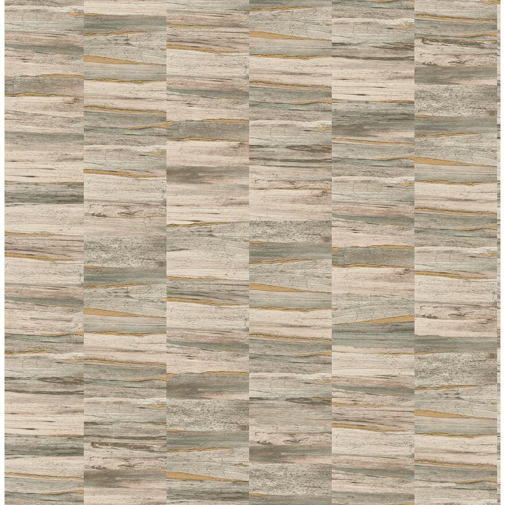 Hugo Neutral Faux Wood Wallpaper
