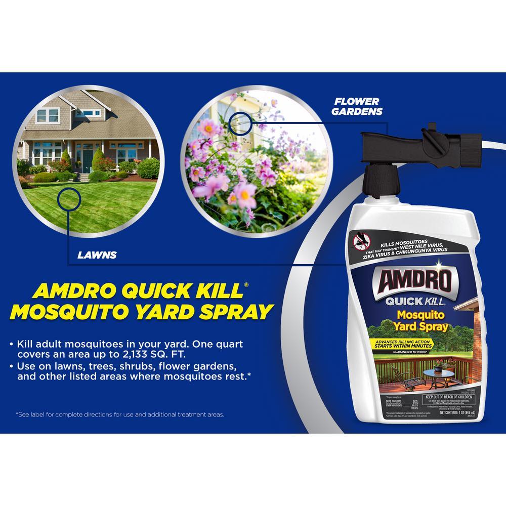 Mosquito Yard Spray Quick Kill 32 Oz Landscape Home Patio ...