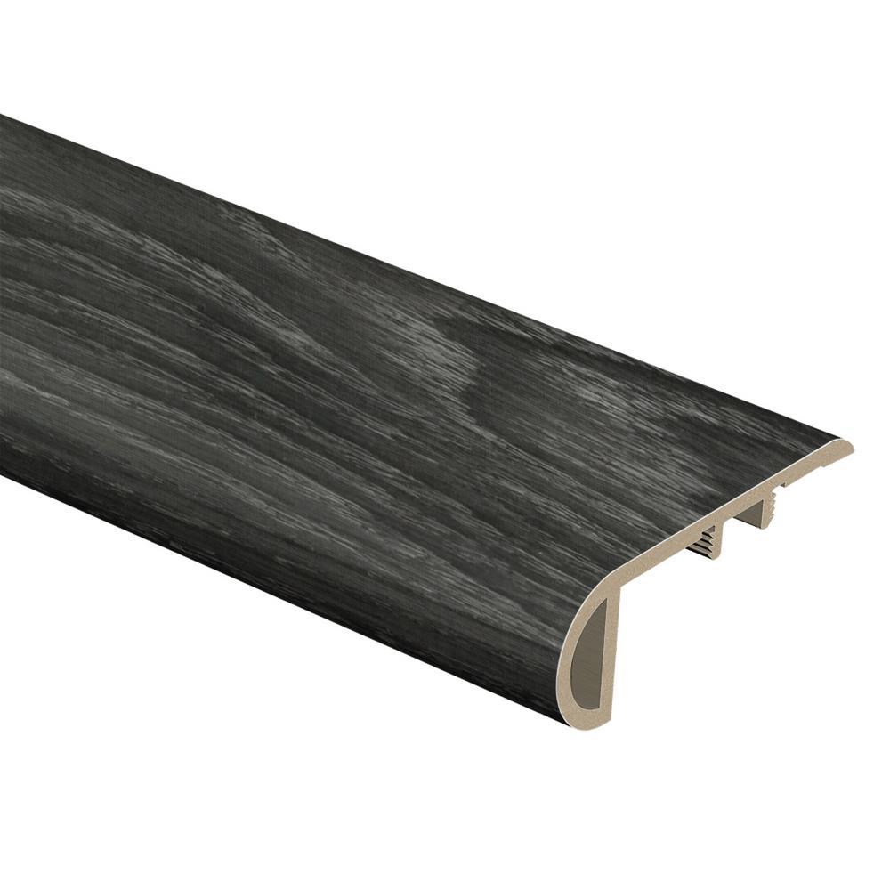 Aspen Oak Black/Noble Oak 3/4 in. Thick x 2-1/8 in. Wide x 94 in. Length Vinyl Stair Nose Molding
