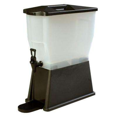 3 gal. Single Reservoir Premium Trim Polypropylene Beverage Dispenser in Black