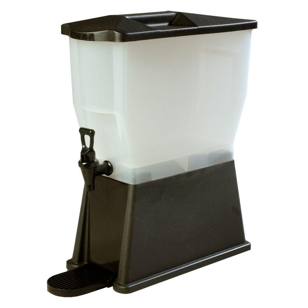 3 gal. Single Reservoir Premium Trim Polypropylene Beverage Dispenser in Black