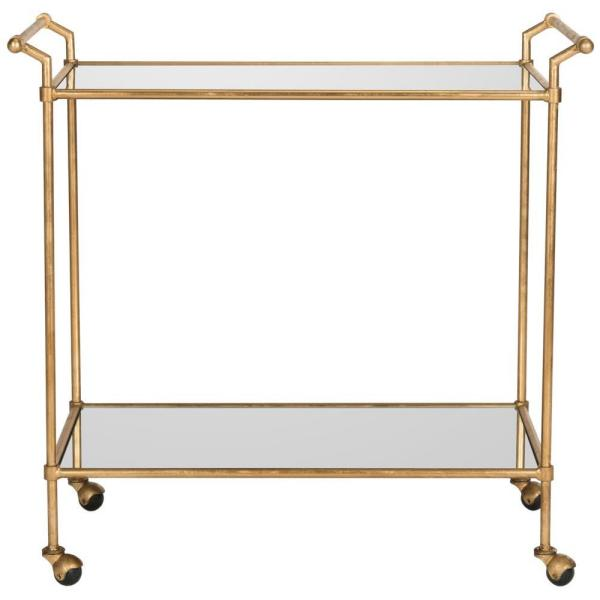 Safavieh Felicity Gold Serving Cart FOX2558A