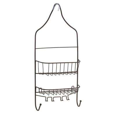Contoured Head Design Shower Caddy in Bronze