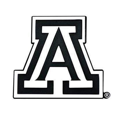 NCAA University of Arizona 3 in. x 3.2 in. Chrome Emblem