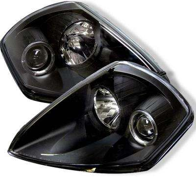 Mitsubishi Eclipse 00-05 Projector Headlights - LED Halo - Black - High H1 (Included) - Low H1 (Included)