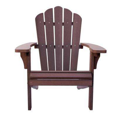 West Palm Chateau Brown Plastic Adirondack Chair