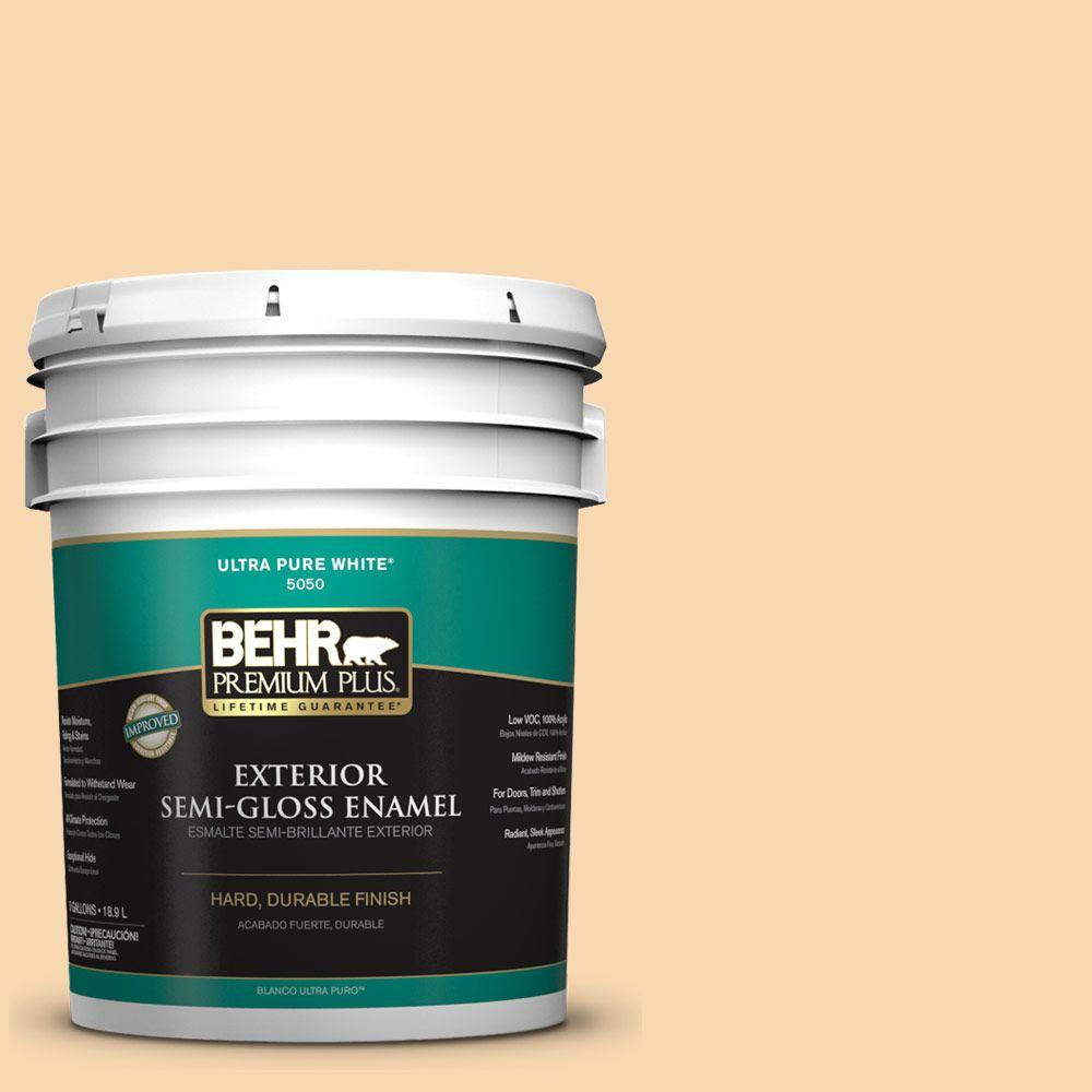 5-gal. #ICC-41 Butter Cookie Semi-Gloss Enamel Exterior Paint
