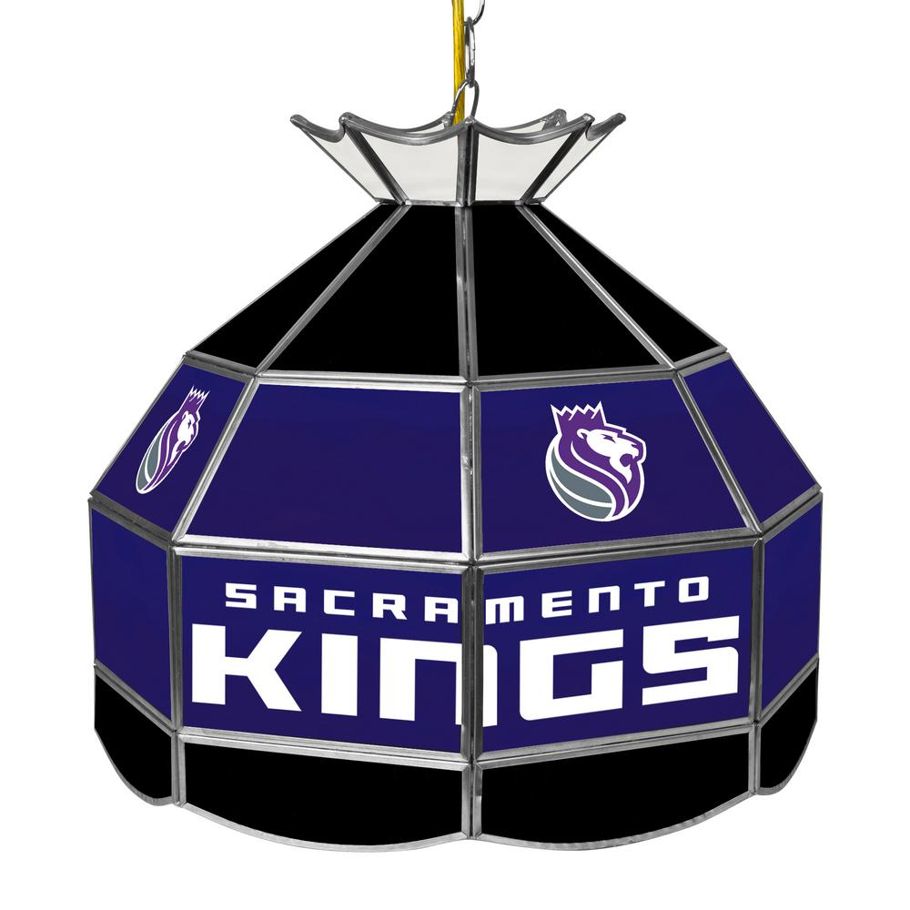 Sacramento Kings NBA 16 in. Nickel Hanging Tiffany Style Lamp