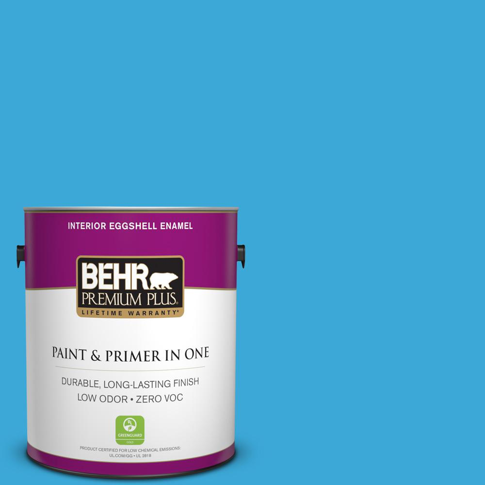 BEHR Premium Plus 1-gal. #550B-5 Windjammer Zero VOC Eggshell Enamel Interior Paint