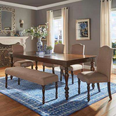 Madison 6 Piece Sand Beige Extendable Dining Set Part 39