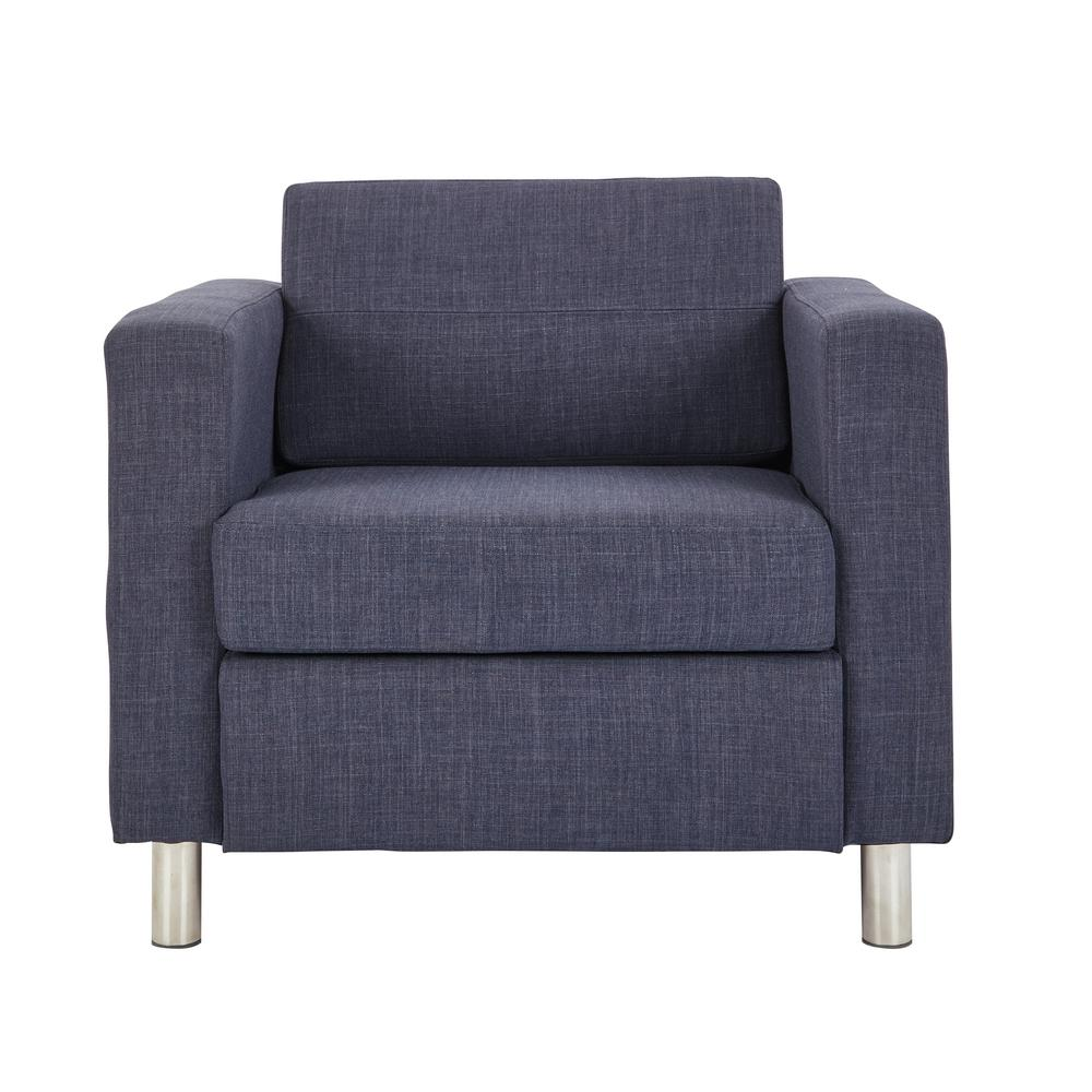 Office Star Products Pacific Navy Blue Fabric Accent Chair Pac51 M19 The Home Depot