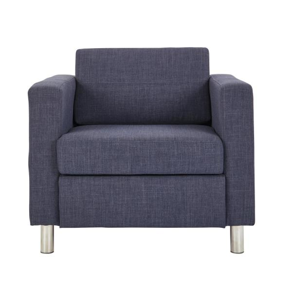 Pacific Navy Fabric Arm Chair