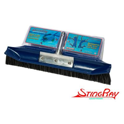 New & Improved Aquadynamic 18 in. Pro Series Stainless Steel Poly Pool Brush that Sticks to the Walls & Floor, Guranteed