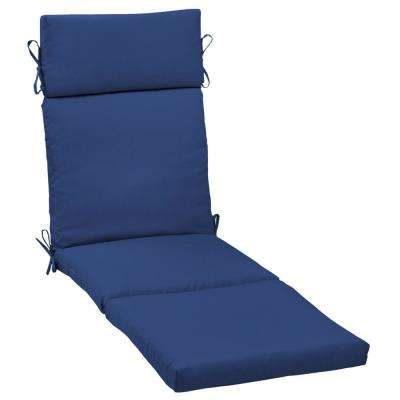 Lapis Canvas Texture Outdoor Chaise Lounge Cushion