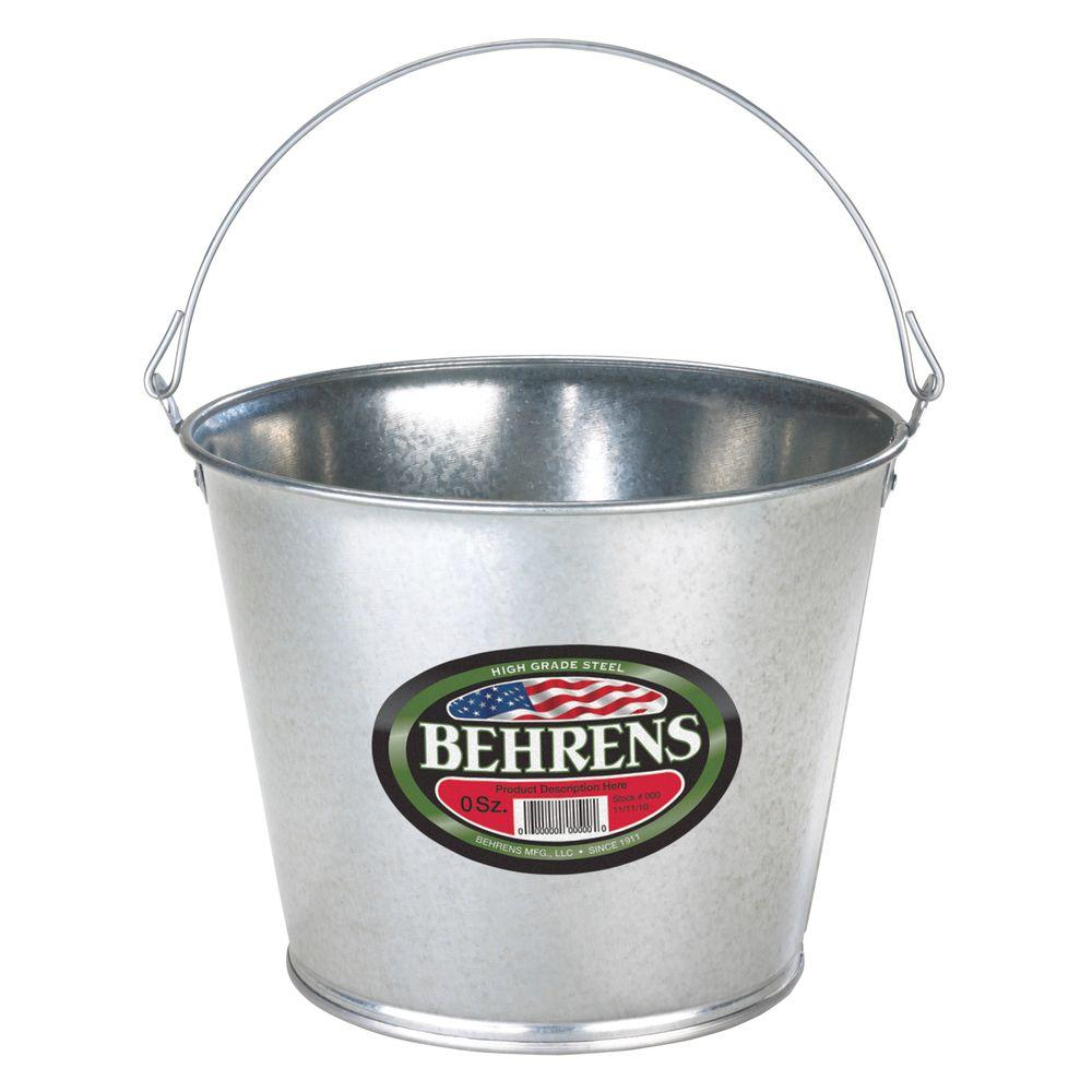 5 Qt. Galvanized Steel Pail