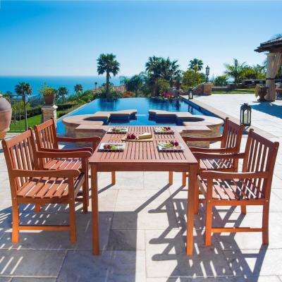 English Garden Eucalyptus 5-Piece Patio Dining Set