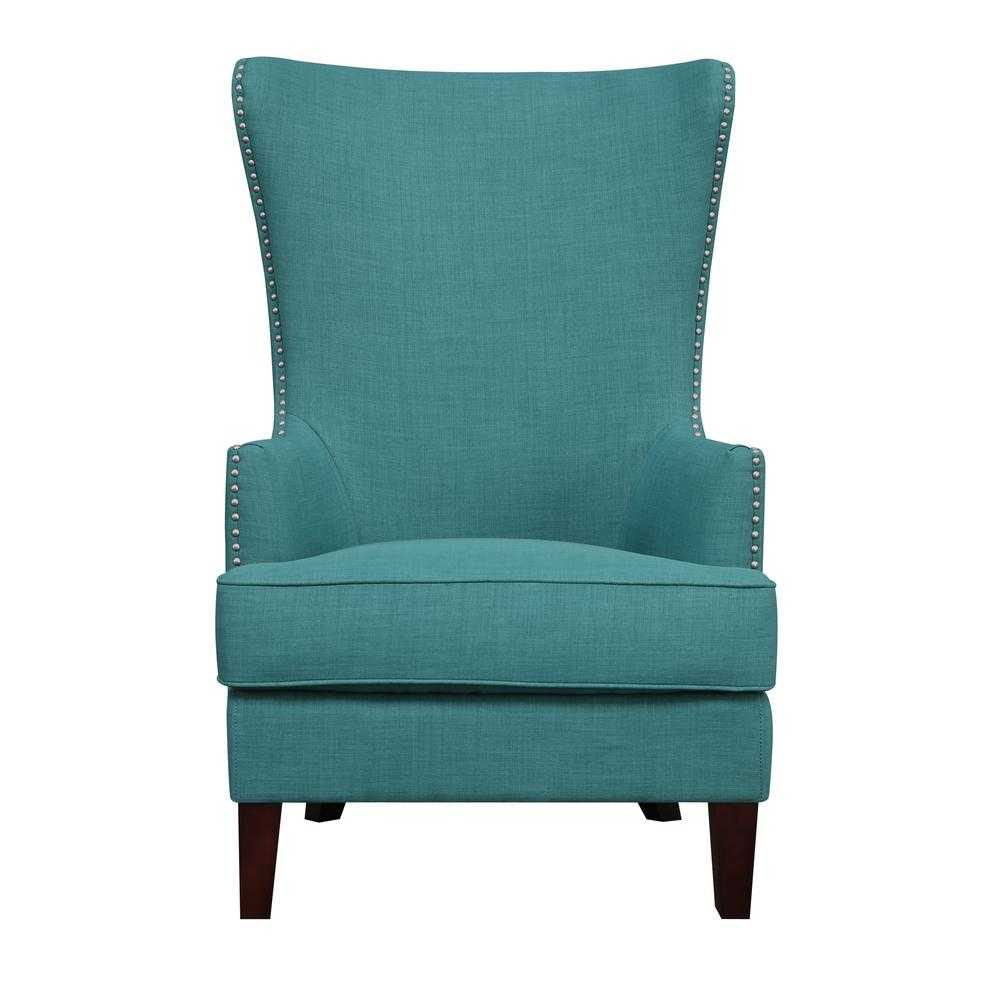 Kegan Teal Accent Chair Ukr087100ca The Home Depot