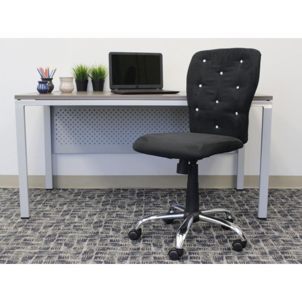 Black Microfiber Tiffany Chair