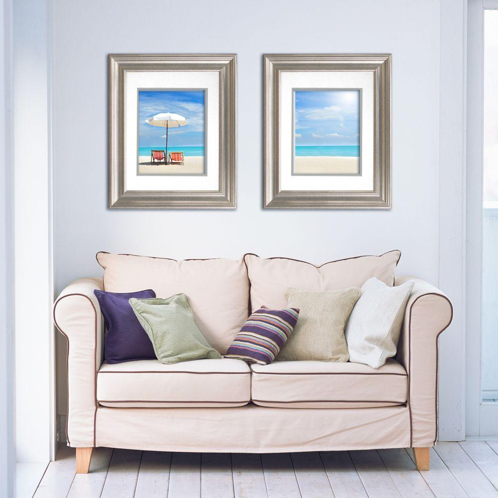 Timeless Frames Lauren 1-Opening 16 in. x 20 in. Silver Matted ...