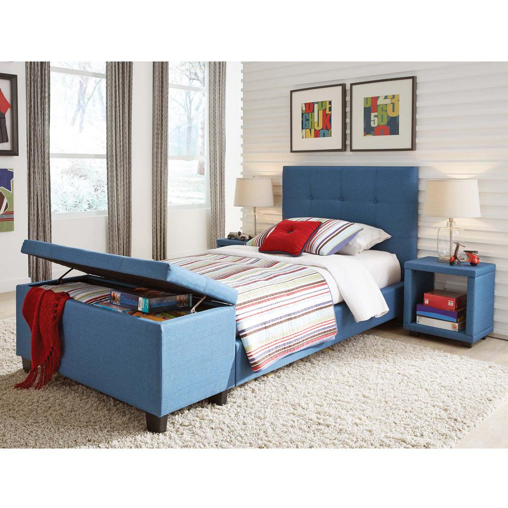 Bedroom Wood Ceiling Ideas Upholstered Bed Bedroom Bedroom With Bench Ideas Bedroom Ceiling Lighting Fixtures: Fashion Bed Group Henley Denim Blue Twin Headboard And