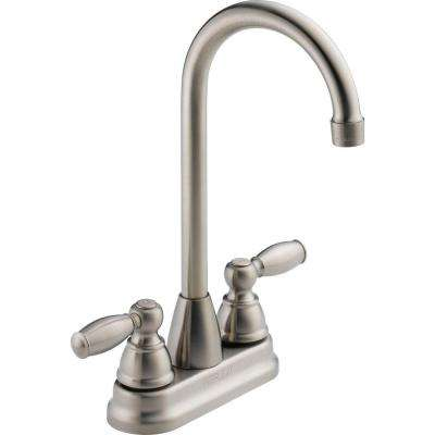 Apex 2-Handle Bar Faucet in Stainless