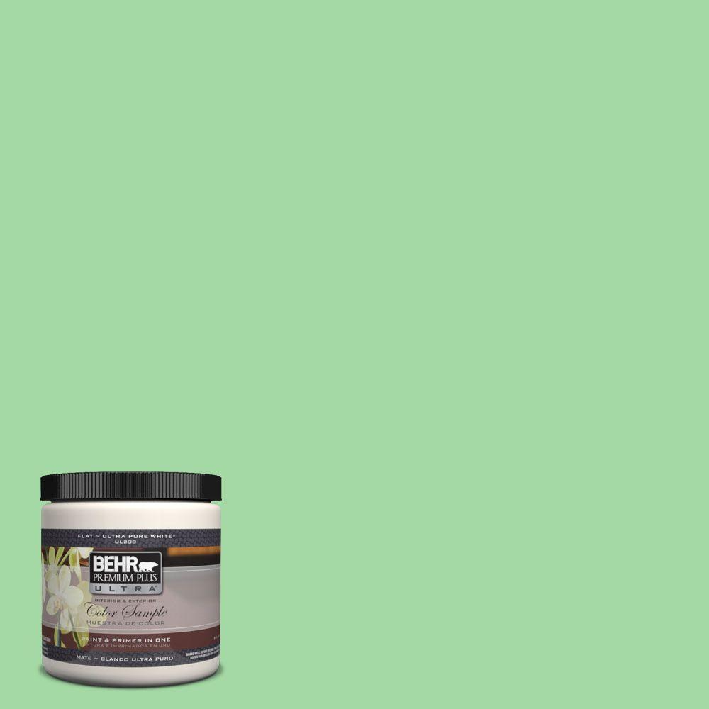 8 oz. #450B-4 Green Trance Interior/Exterior Paint Sample