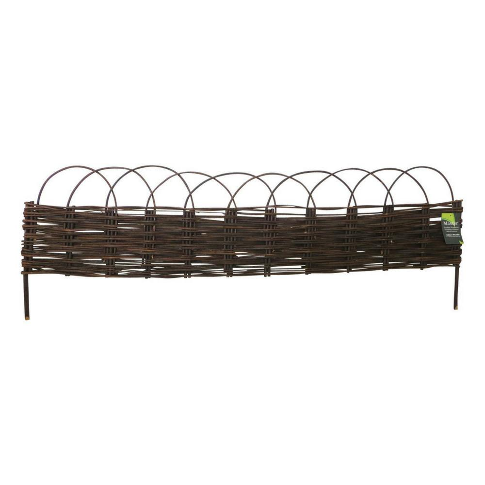 MGP 4 ft. Woven Willow Edging with Arc Top